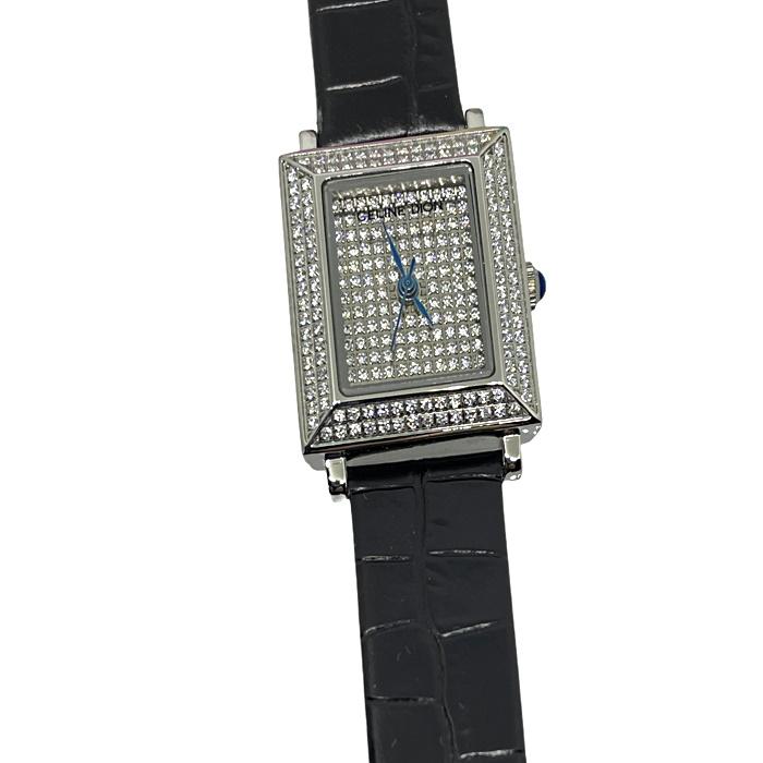La montre Céline Dion 135E au cadrant avec crystaux en acier inoxydable.